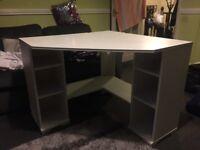 Ikea white corner desk