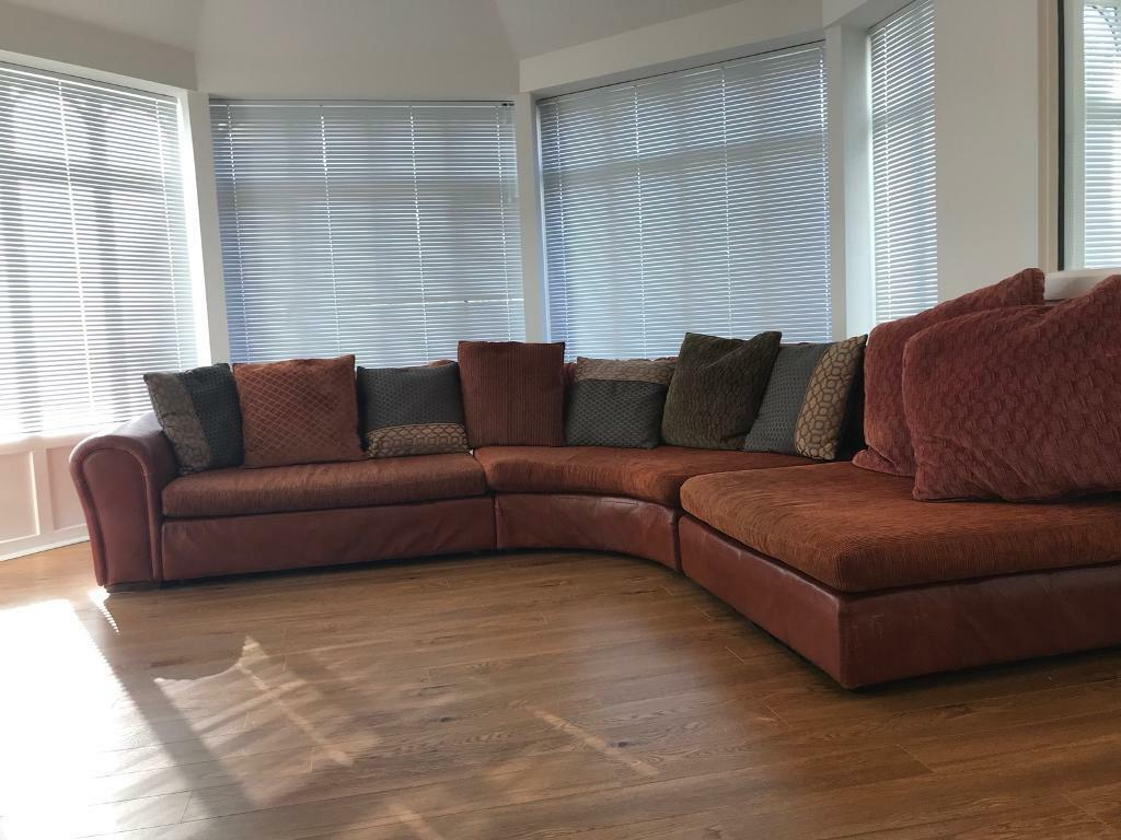 Sold Retro Orange Corner Sofa Free Delivery In Southside