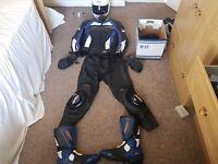 Arai helmet and rst leathers