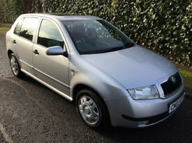 2003 SKODA FABIA COMFORT 16V, LOW 36000 MILEAGE ,JUST DONE A SERVICE,