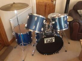 Drum Kit complete with stool and Drum sticks