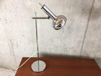 1960's mid century Italian chrome table lamp
