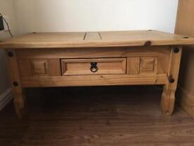 Wooden oak coffee table
