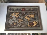 A new and accvrat map of the world mirror vintage
