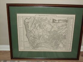 Framed Print A Plan of Bristol, Clifton and Hotwells by B Donne 1826 - Facsimile dated 1952