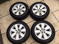 Audi 16' Alloy wheels On Nearly new tyers