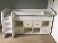 Stompa Midsleeper Bed, Drawers, Storage & Mattress