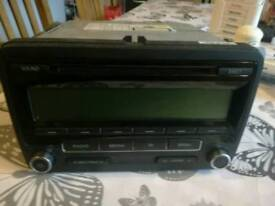 Vw radio cd player with code
