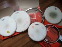 13,14,16 inches drum heads. Evans G2, EC Reso and Remo Emperor X