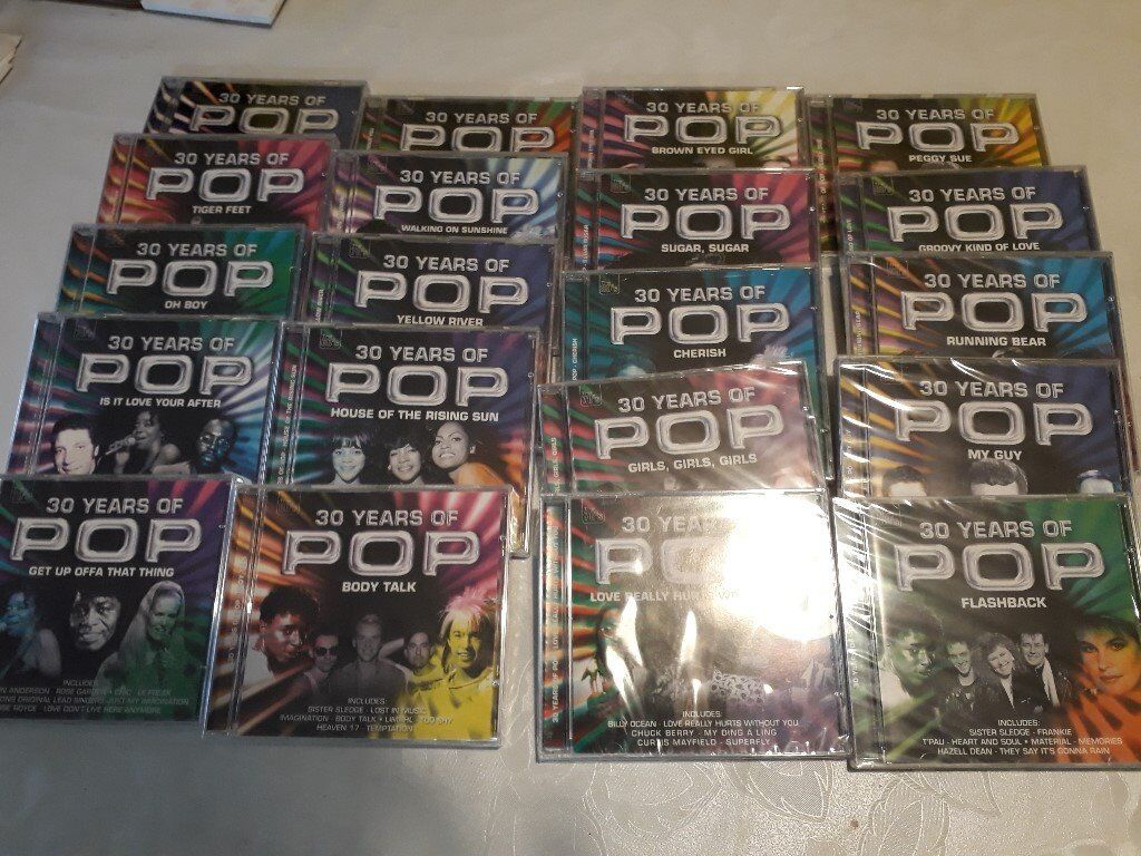 30 Years of Pop Flashback CDs.