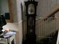 Maghony coloured grandmother clock