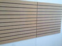 Slatwall Slatboard Slotboards For Retail Display 1200mm x 1200mm Retail Display shops shelving