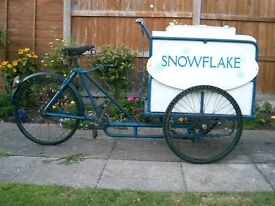 1930s ICE CREAM TRICYCLE
