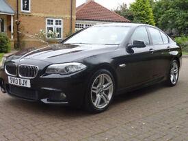 BMW 5 SERIES 3.0 535D M SPORT 4d AUTO 309 BHP SERVICE REC + SAT NAV + MEDIA PACK