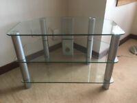 Glass television corner unit, easy to dismantle rebuild