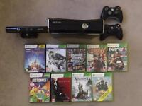 Xbox 360 S 250gb + games + connect