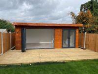 Garden Room, Garden Office Log Cabin, Garden Studio, Universal Garden Space.