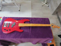 Aria Pro II bass guitar Korean made early 90s with case