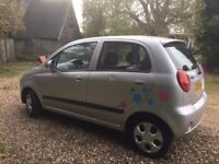 CHEAP CAR SMALL ENGINE 2008 CHEV MATIZ LOW MILEAGE LONG MOT EXCELLENT FIRST CAR - 1 LITRE