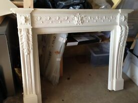 FAUX MARBLE MANTLEPIECE