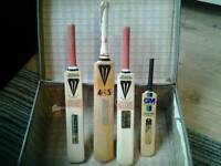 Vintage Duncan fearnley + other mini cricket bats job lot