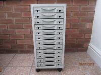 12 drawer portable filing cabinet