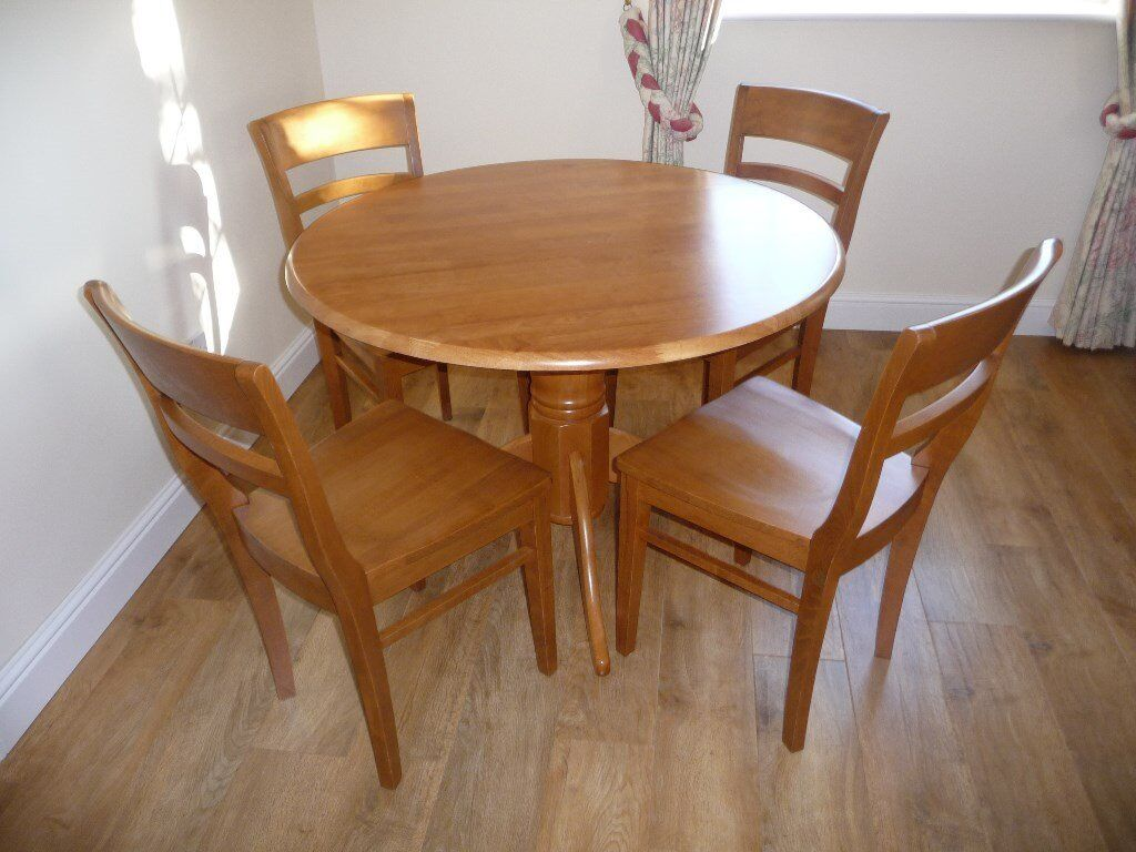 Dining Table & 4 chairs perfect for Kitchen, Flat or small area - 1m across