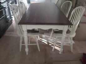 laura ashley bramley dining table and 6 chairs