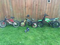Boys bikes open to offers