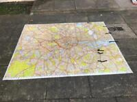 HUGE laminated knowledge map of London
