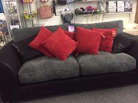Suede 2 seater sofa