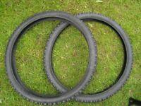 bike tyres 26 inch x 2.3 KENDA KINETIC DIRT TYRE X 2 brand new
