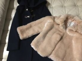 Cute duffle coat and fur coat