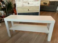 White 2-tier shoe rack / shelving unit