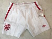 Vintage Child's England Football Match Short, White; Never worn; tags still on!