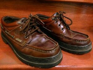 Timberland Men's Oxford Shoes Boots Brown Leather Size 8