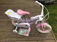 Girls bike silver fox