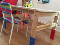 Ikea Children's Table & Chair Set. Good condition. £30. Collection WD23