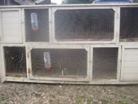 LARGE 7FT LONG DOUBLE BREEDING HUTCH
