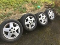 "TOYOTA MR2 mk2 Alloys 15"" good tyres"