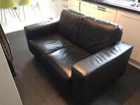 IKEA skogaby 2 seater leather sofa - great condition