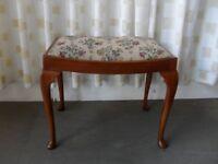 VINTAGE MAHOGANY DRESSING TABLE STOOL SEAT