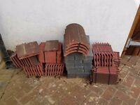 Roof Tiles - 112 Nos + 4 Nos Curved Roof Tiles - Both Packed