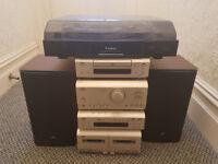 JVC Setero System with Speakers and Steepletone Turntable Record Player