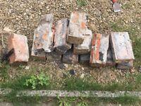 Free used red bricks