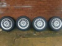 Alfa romeo gt alloys 5 stud 16 inch matching Michelin tyres like new