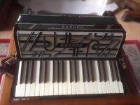 Stylish and rare Art Deco German Hohner Verdi 111 Piano Accordion.