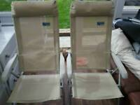 2 kampa recliner chairs.