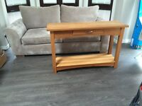 Coffee table, console tables, dining table