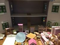 Dolls house with furniture in great condition